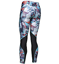 Under Armour Fly Fast Printed - Laufhose lang - Damen, Light Blue/Black/White