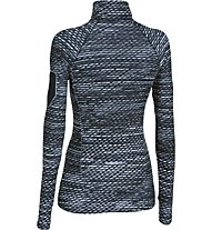 Under Armour Fly Fast Printed 1/2 Zip Sweatshirt Damen, Black/White Printed