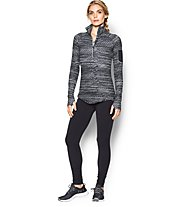 Under Armour Fly Fast Printed 1/2 zip Maglietta Donna, Black/White Printed