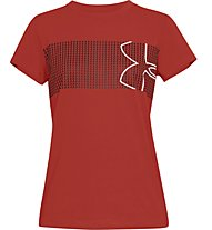 Under Armour Graphic Classic Crew Chest Logo - T-shirt fitness - donna, Red