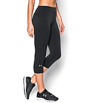 Under Armour HeadGear Armour Capri Pantaloni corti fitness Donna, Black/Black