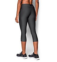 Under Armour HeadGear Armour Capri Pantaloni corti fitness Donna, Carbon Heather