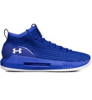 Under Armour Heat Seeker - scarpe da basket - uomo, Blue/White