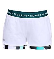 Under Armour HeatGear 2-in-1 Print Short - Trainingshose kurz - Damen, White/Blue