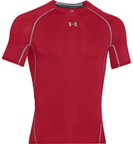 Under Armour HeatGear Armour Compression - Fitnessshirt kurzarm - Herren, Red