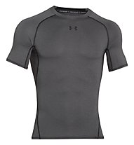 Under Armour HeatGear Armour Compression - Fitnessshirt kurzarm - Herren, Dark Grey