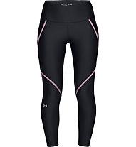Under Armour HeatGear® Armour Edgelit Ankle Crop - pantaloni fitness - donna, Black/Violet