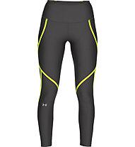 Under Armour HeatGear® Armour Edgelit Ankle Crop - pantaloni fitness - donna, Black/Yellow