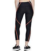 Under Armour HeatGear® Armour Edgelit Ankle Crop - pantaloni fitness - donna, Black/Orange