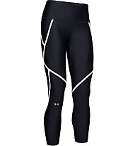 Under Armour HeatGear® Armour Edgelit Ankle Crop - pantaloni fitness - donna, Black/White