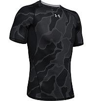 Under Armour HeatGear Armour Novelty - T-shirt - Herren, Black/Dark Grey