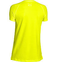 Under Armour HeatGear Armour T-shirt Fitness donna, Yellow