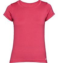 Under Armour HeatGear Armour Short Sleeve - T-shirt fitness - donna, Red