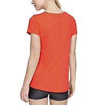 Under Armour HeatGear Armour Short Sleeve - T-shirt fitness - donna, Dark Orange