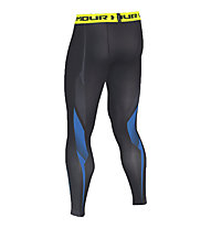 Under Armour HeatGear Kompressions-Legging, Black/Blue Jet