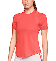 Under Armour Hex Delta Short Sleeve - Laufshirt - Damen, Light Red