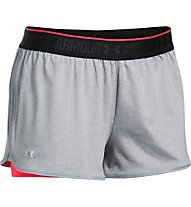 Under Armour HG Armour 2 in 1 Shorty - kurze Trainingshose - Damen, Light Grey