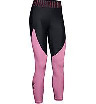 Under Armour HG Armour Ankle Crop Colorblock - Trainingshose - Damen, Black/Pink