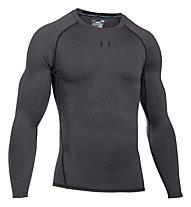 Under Armour HG Armour Compression - Langarmshirt Fitness - Herren, Dark Grey