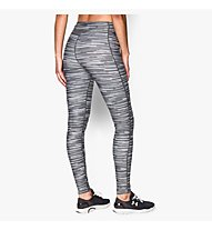 Under Armour HeatGear Armour Printed Legging donna, White/Light Grey