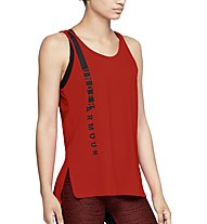 Under Armour HG Armour Scoop Graphic - canotta fitness - donna, Red