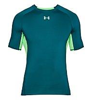 Under Armour HeatGear Armour Compression - Fitnessshirt kurzarm - Herren, Green