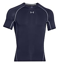 Under Armour HeatGear Armour Compression - Fitnessshirt kurzarm - Herren, Dark Blue
