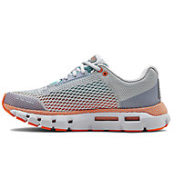 Under Armour HOVR Infinite - scarpe running neutre - donna, Light Grey/Blue/Orange
