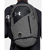 Under Armour Hustle 4.0 - zaino daypack, Black/Grey