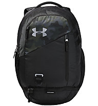 Under Armour Hustle 4.0 - zaino daypack, Black/Camouflage