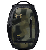 Under Armour Hustle 4.0 - zaino daypack, Black/Green