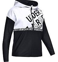 Under Armour Infinity Full Zip - giacca con cappuccio - ragazza, Black/White