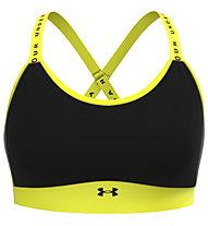 Under Armour Infinity Mid - reggiseno sportivo a medio impatto - donna, Black/Yellow