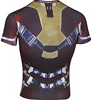 Under Armour Iron Man BL Compression - T-shirt fitness - uomo, Maroon