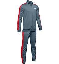 Under Armour Knit - tuta sportiva completa - ragazzo, Grey/Red