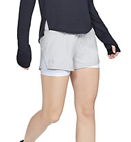 Under Armour Launch 2-in-1 - pantaloni corti running - donna, Grey