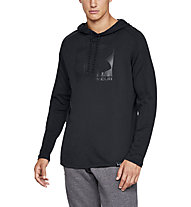Under Armour Lighter Longer PO Hoodie - felpa con cappuccio - uomo, Black