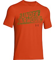Under Armour Linear Script T-Shirt bambino, Red