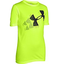 Under Armour Logo Hybrid T-Shirt Bambino, Fuel Green/Black