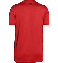 Under Armour Logo Hybrid T-Shirt Bambino, Risk Red/Black