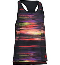 Under Armour Luna Tank Top bambina, Black/Multicolour
