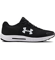 Under Armour Micro G® Pursuit BP - scarpe fitness e training - donna, Black/White