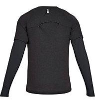 Under Armour Microthread Run Wool Waffle - maglia running a maniche lunghe - uomo, Black