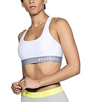 Under Armour Mid Crossback Bra - Sport-Bh - Damen, White