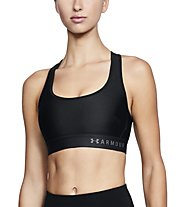Under Armour Mid Crossback Bra - Sport-Bh - Damen, Black