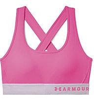Under Armour Mid Crossback Bra - Sport-Bh - Damen, Pink