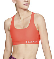 Under Armour Mid Crossback Bra - Sport-Bh - Damen, Light Red