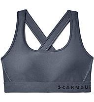 Under Armour Mid Crossback Bra - Sport-Bh - Damen, Dark Grey
