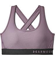 Under Armour Mid Crossback Bra - Sport-Bh - Damen, Violet