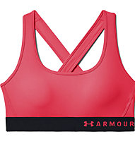 Under Armour Mid Crossback Bra - Sport-Bh - Damen, Red/Black